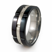 CHRONOS TITANIUM RING | 14K White Gold