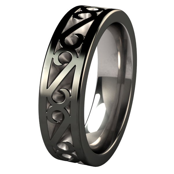 Legend Black 2Tone-none-Titanium Rings