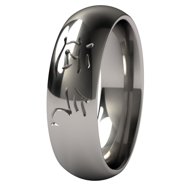 luck-none-Titanium Rings