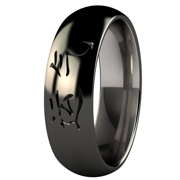 Luck Black-none-Titanium Rings