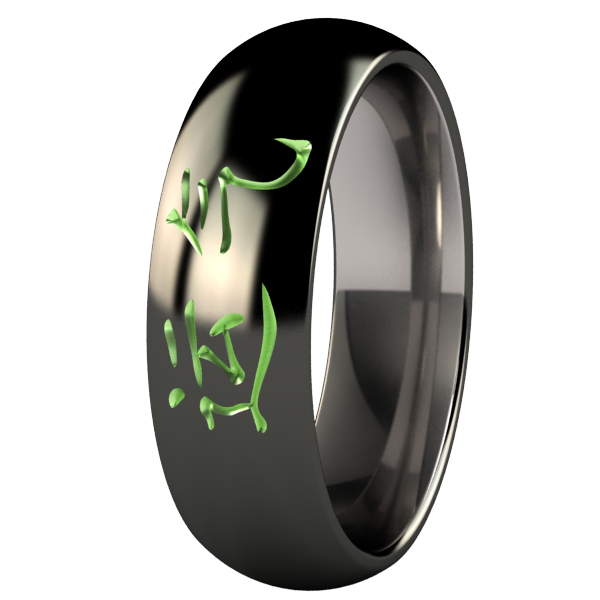 Luck Black and Colored-none-Titanium Rings