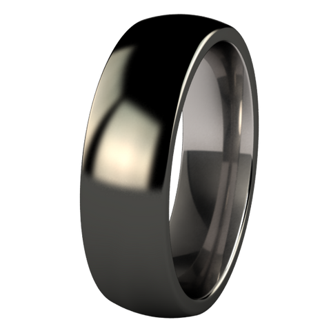 Lunar Eclipse Black Titanium Ring