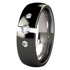 Lunar Tension Set with Side Stones - Black-none-Titanium Rings