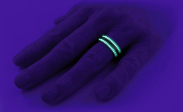 Abyss - Black and Glow Enamel-none-Titanium Rings