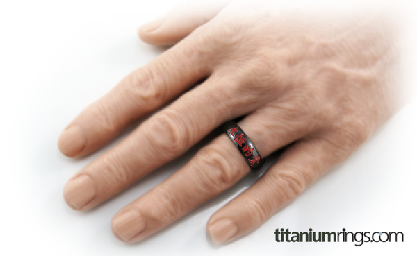 Eternal Love - Black & Colored-none-Titanium Rings