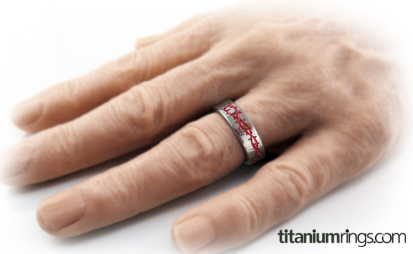 Taboo - Colored-none-Titanium Rings