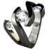 Meghan Multi Stone Gem - Black-none-Titanium Rings
