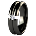 Meridian Black Tension Setting-none-Titanium Rings