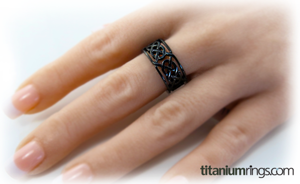 Merlin - Black-none-Titanium Rings