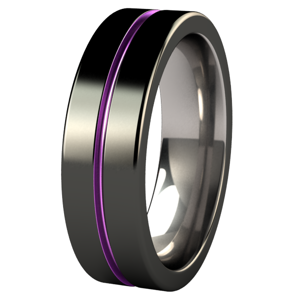 Mojo - Black & Colored-none-Titanium Rings