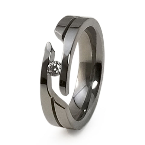 Mojo Journey Cut Titanium Ring