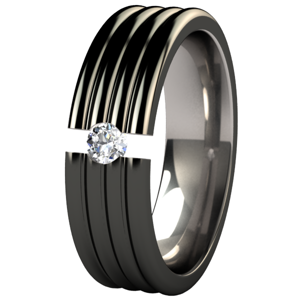 Monsoon Black Tension Setting-none-Titanium Rings