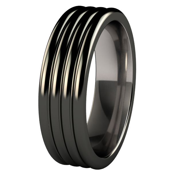 Monsoon Black-none-Titanium Rings