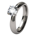 Helena Solitaire Gem-none-Titanium Rings