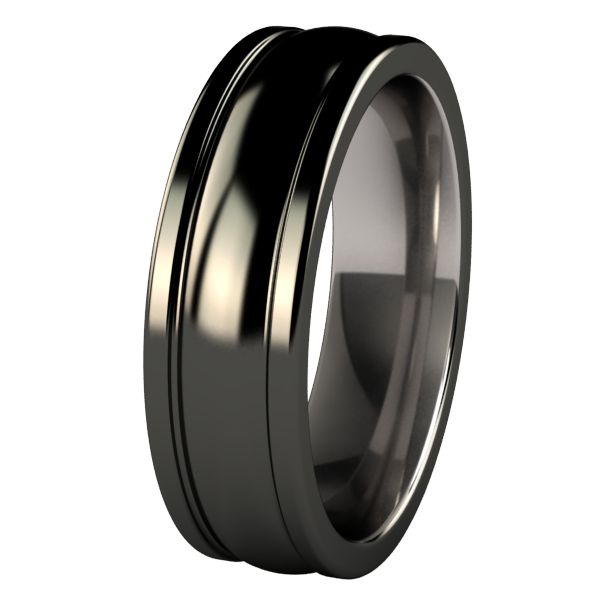 Nymph Black-none-Titanium Rings