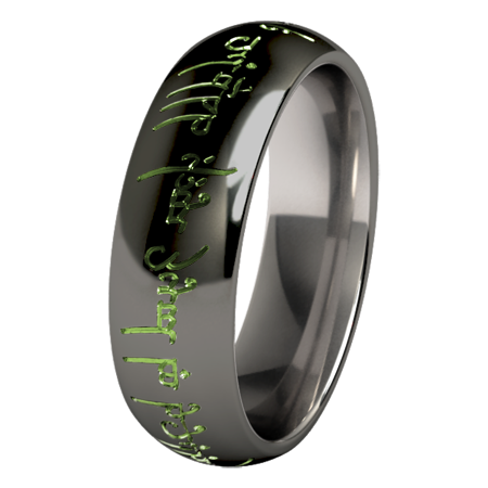 The One - Black & Colored-none-Titanium Rings