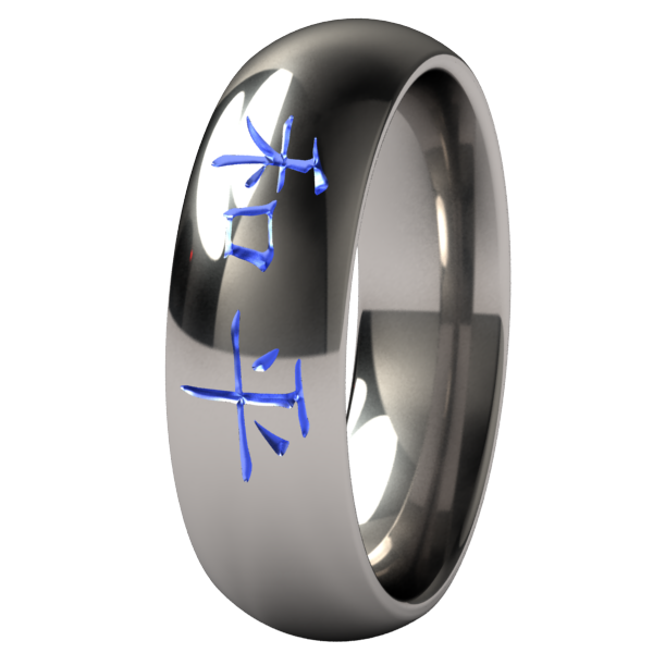Peace - Colored-none-Titanium Rings