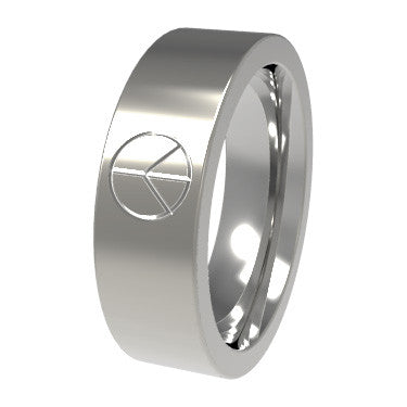 Peace Symbol-none-Titanium Rings