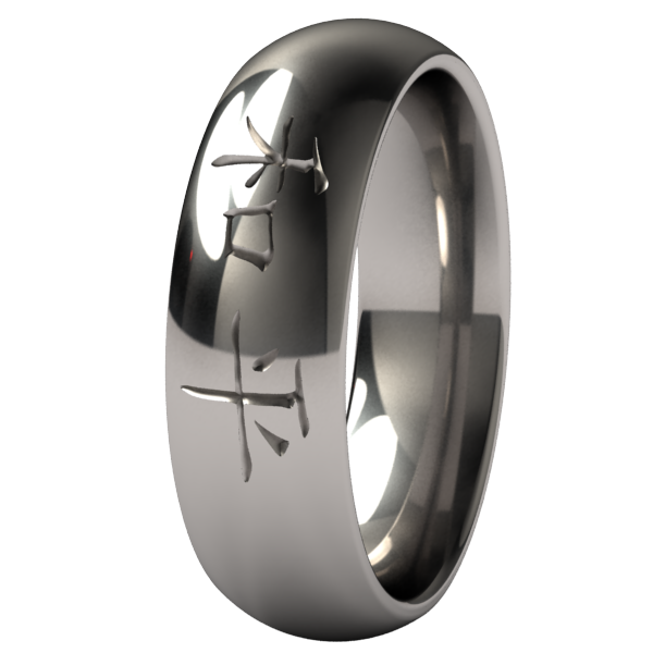 Peace-none-Titanium Rings