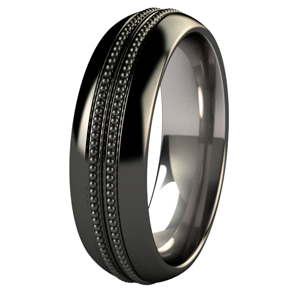 Pearlgate Black-none-Titanium Rings