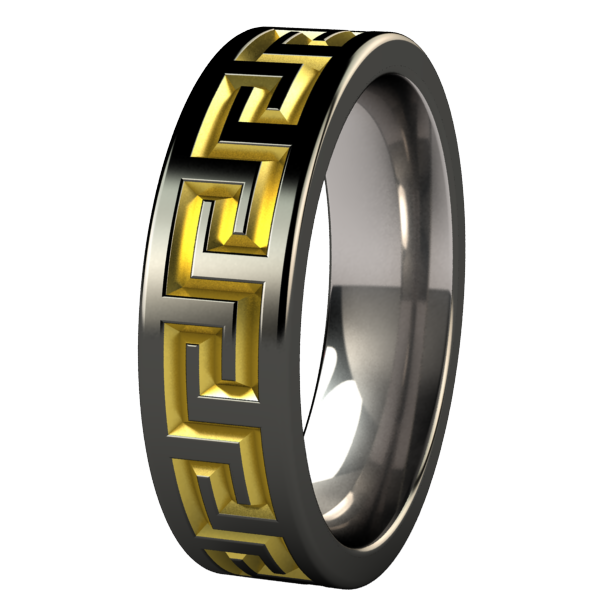 Pegasus - Black & Colored-none-Titanium Rings