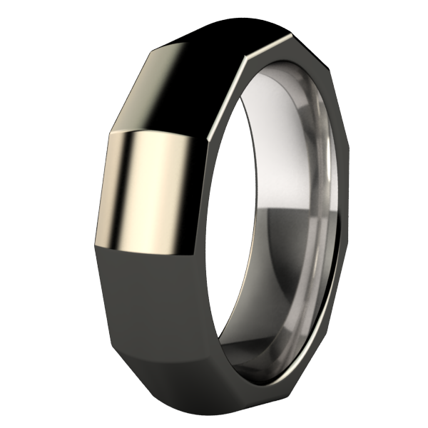 Perpetual Black-none-Titanium Rings