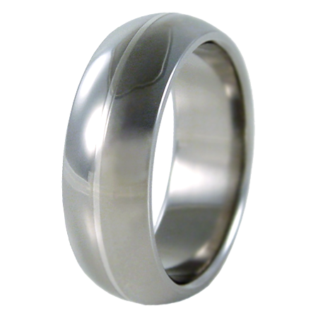 Beam Platinum Inlay-none-Titanium Rings