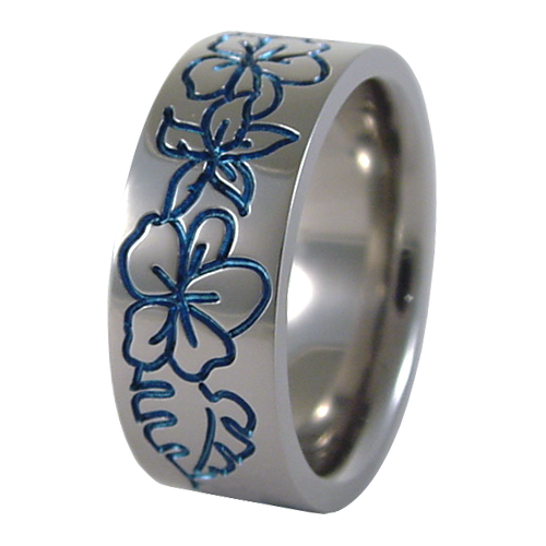 Pu'a colored-none-Titanium Rings