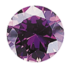 Cubic Zirconia - purple-none-Titanium Rings