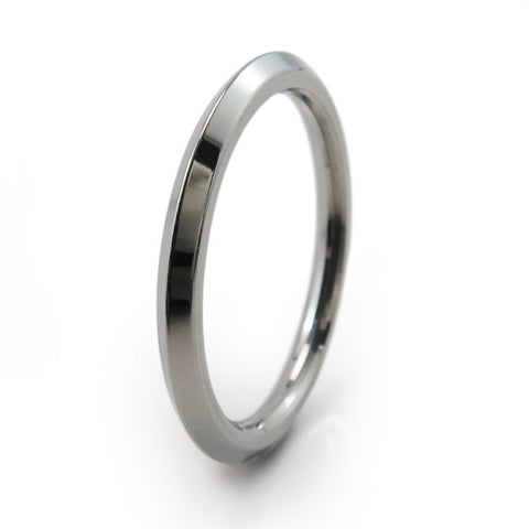 Pyramid Stackable Titanium Ring