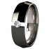 Pyramid Tension Set - Black-none-Titanium Rings