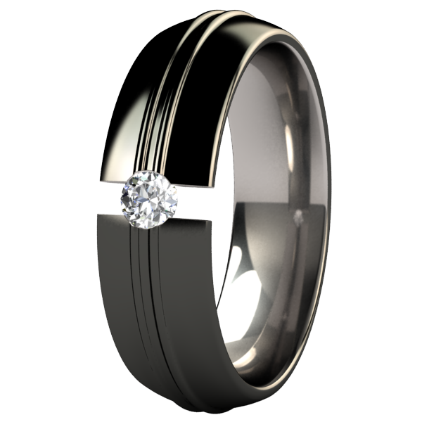 Racer Black Tension Setting-none-Titanium Rings