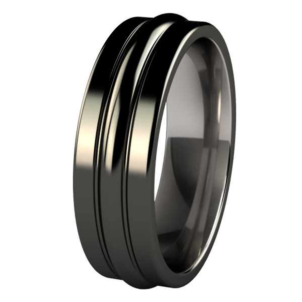 Radius - Black-none-Titanium Rings