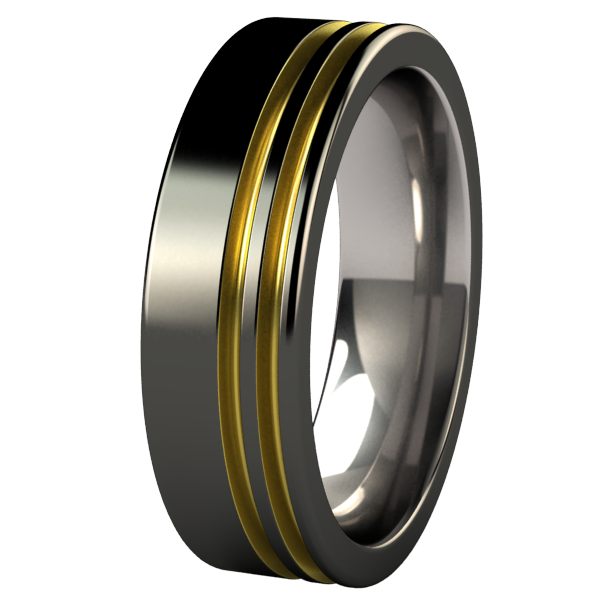 Solstice - Black & Colored-none-Titanium Rings