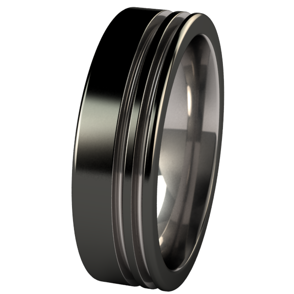 Solstice - Black Two Toned-none-Titanium Rings