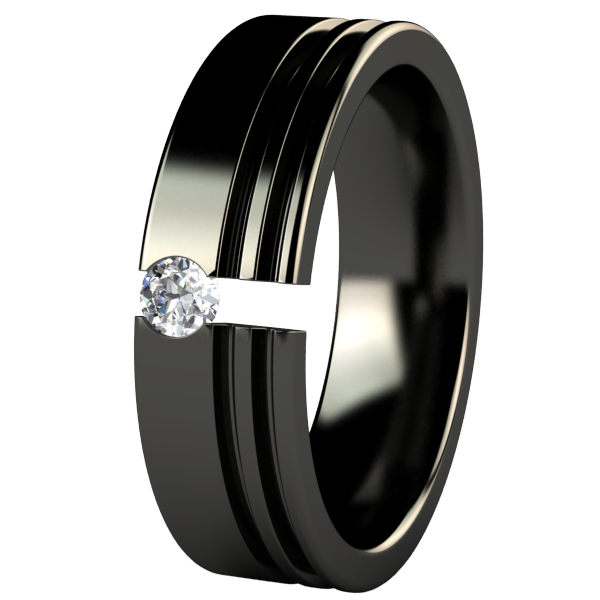 Solstice Black Tension Setting-none-Titanium Rings