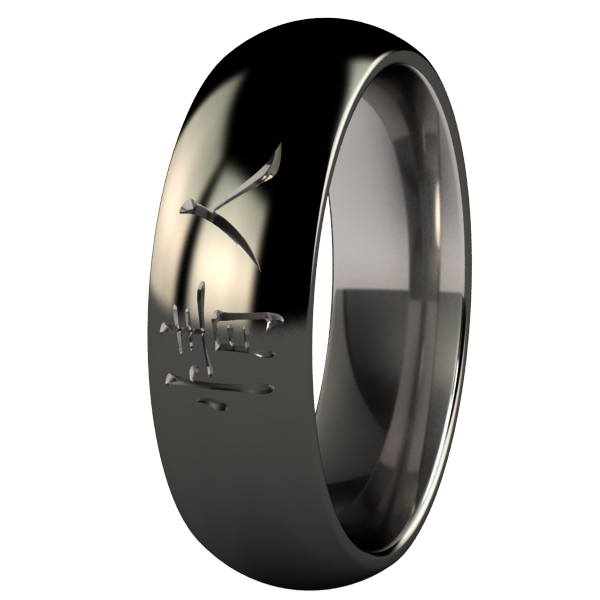 Soulmate - Black Two Toned-none-Titanium Rings