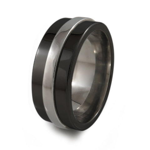 Classic Titanium Fidget Ring | Two-Tone