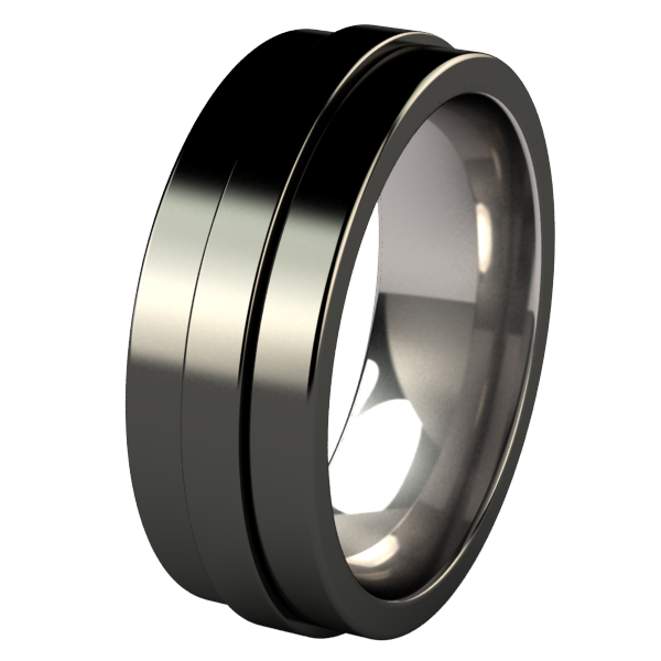 Spinner - Black-none-Titanium Rings