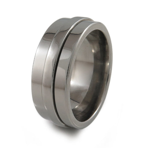 Classic Fidget Ring - Natural Titanium Ring