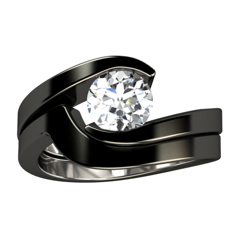Stella Black Wedding Set - Image for Preview - See Description or Individual Rings for prices.