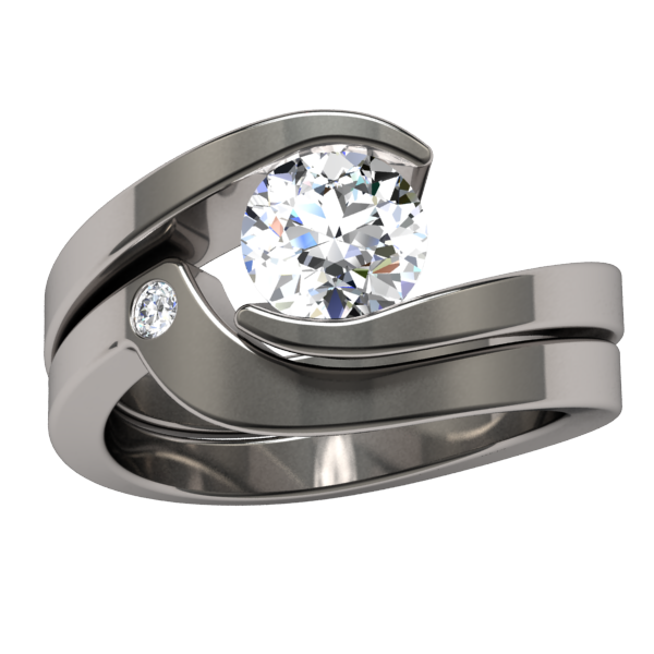 Stella Companion Diamond-none-Titanium Rings