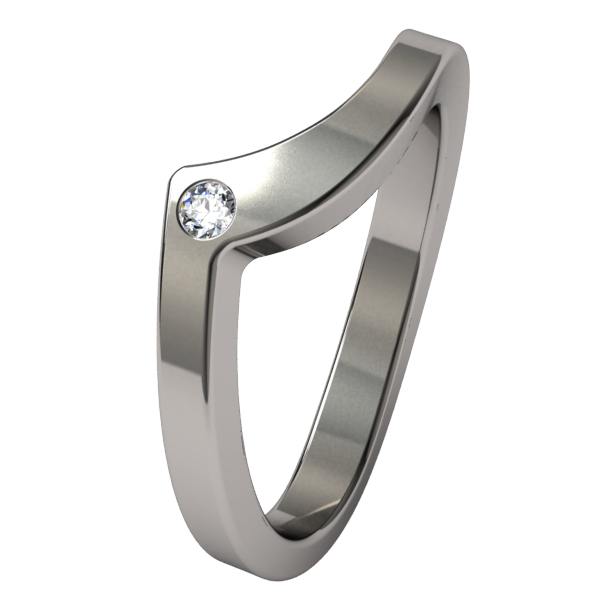 Stella Companion with gem-none-Titanium Rings