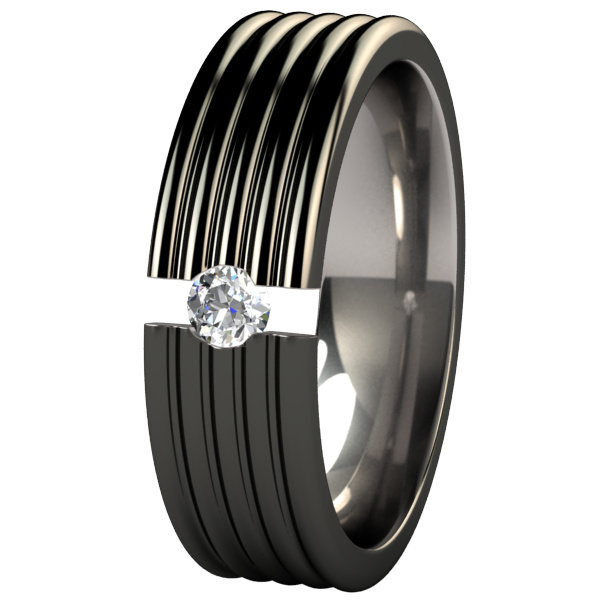 Stratus Black Tension Setting-none-Titanium Rings