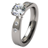 Custom Asteria with 4 side diamonds-none-Titanium Rings