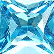 Topaz - Swiss Blue-none-Titanium Rings