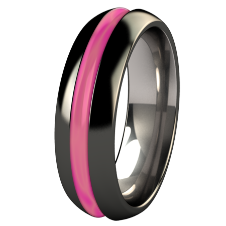 Synapse - Black and Glow Enamel-none-Titanium Rings