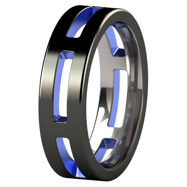 System Black and colored-none-Titanium Rings