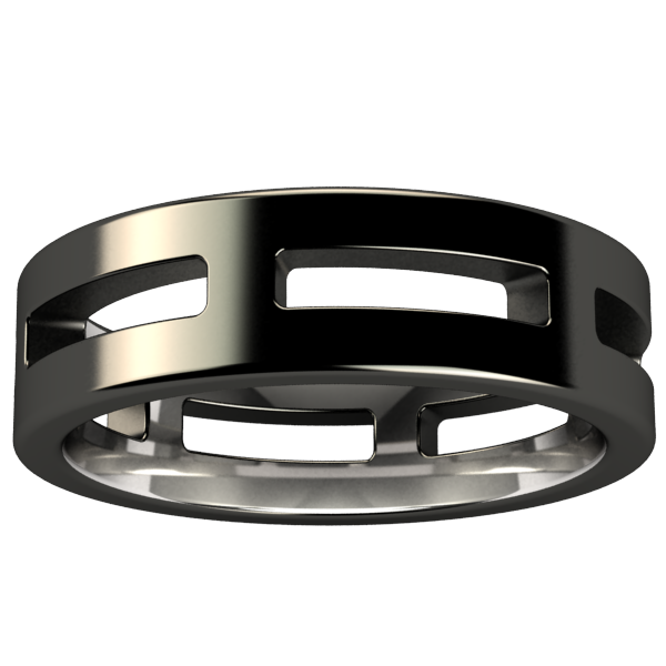 System - Black-none-Titanium Rings
