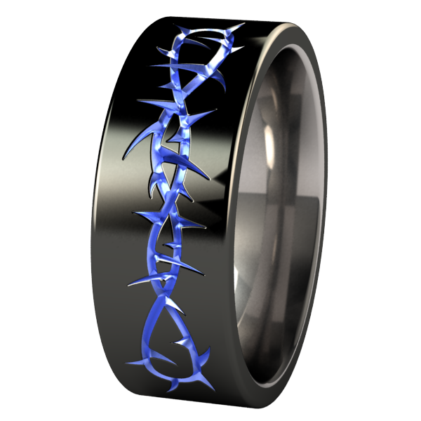 Taboo - Black & Colored-none-Titanium Rings